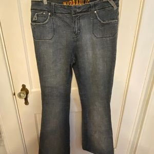 Hydraulic bootcut back flap pocket jeans 16W